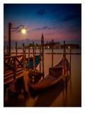 Venice Gondolas At Sunrise Prints by Melanie Viola