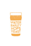 Recipe For A Hoppy Pint Pôsters