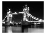 London Tower Bridge - Monochrome Póster por Melanie Viola