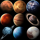 Hight Quality Isolated Solar System Planets. Elements of this Image Furnished by NASA Affiche par  Vadimsadovski