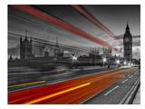London Westminster Bridge & Red Bus Posters by Melanie Viola