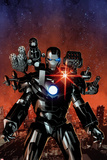 Invincible Iron Man No.6 Cover, Featuring War Machine Plakater