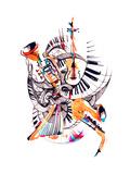 Musical Instruments Premium Giclee Print by  okalinichenko
