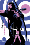 All-New Hawkeye No.4 Cover, Featuring Hawkeye and Kate Bishop Poster di Michael Cho
