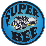 Super Bee Round Tin Sign