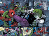 Spidey No.3 Panel, Featuring Spider-Man and Lizard Prints by Nick Bradshaw