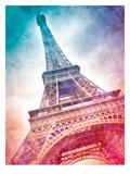 Modern Art Paris Eiffel Tower Stampe di Melanie Viola