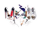 Footwear Giclée-Premiumdruck von  okalinichenko