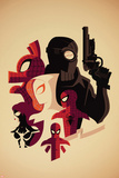 Web Warriors No.3 Cover, Featuring Spider-Ham, Spider-Man Noir, Spider-Gwen and More Posters by Tom Whalen