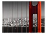 Golden Gate Bridge Panoramic View Posters af Melanie Viola