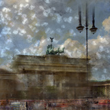 City Art Berlin Brandenburg Gate II Poster di Melanie Viola