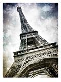 Modern Art Paris Eiffel Tower Splashes Prints by Melanie Viola