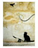 Chat Affiches par  Banksy