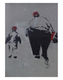 Little and Large Poster by  Banksy
