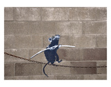 Tightrope Poster by  Banksy