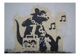 Ghetto Blaster Rat Giclee-trykk av  Banksy