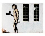 Cave Man Fast Food Plakater af  Banksy
