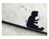 Bubble Girl Prints by  Banksy