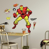 Classic Iron Man Comic Peel and Stick Giant Wall Decals Wall Decal