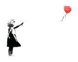 Heart Balloon Art by  Banksy