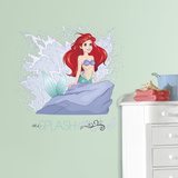 Disney Princess Ariel Splash Peel and Stick Giant Wall Graphic Muursticker