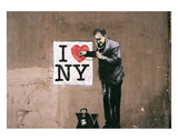 I Love NY Poster by  Banksy