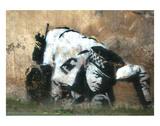Crouching Policeman Posters av  Banksy