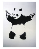 Skydende panda Posters af  Banksy
