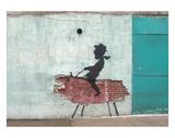 Varken, lichaam van varken met Engelse omschrijving van eetbare gedeelten Posters van  Banksy