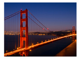 Golden Gate Bridge In The Evening Kunst af Melanie Viola