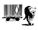 Barcode Kunstdrucke von  Banksy