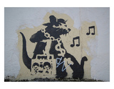 Ghetto Blaster Rat Pósters por  Banksy