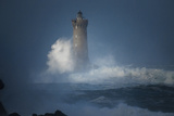 Bretagne, Overcome by Waves Photographic Print by Philippe Manguin