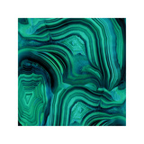 Malachite in Green and Blue Giclée-Druck von Danielle Carson