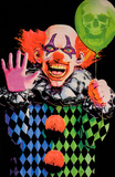 Evil Clown Blacklight Poster Poster