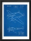 P-38 Airplane Patent Art