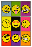 Emoji Nine Blacklight Poster Posters