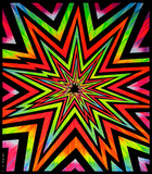 Cosmic Blast Blacklight Tapestry Photo