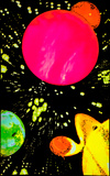 Hyper Space Glow In The Dark Blacklight Poster Print