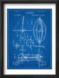 Steampunk Aerial Vessel 1893 Patent Print