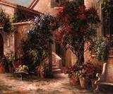 Garden Court Print by Art Fronckowiak