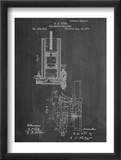 Gas Motor Engine Patent Poster