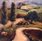 Road To Montpulciano Print by Nicole Etienne