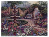 Tranquil Garden Poster by Barbara Mock
