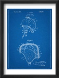 Leather Football Helmet Patent Posters
