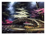 Dogwood and Waterlilies Poster by Egidio Antonaccio