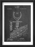Boat And Oar Patent Posters