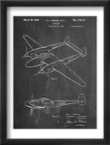 P-38 Airplane Patent Prints