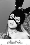 Ariana Grande- Bunny Mask Kunstdruck von WORLDWIDE