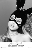 Ariana Grande- Bunny Mask Print by WORLDWIDE